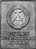 Embassy sign of the former German Democratic Republic