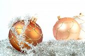 Variously Coloured Christmas Decorations