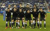 BARCELONA - NOV, 30: Real Sociedad team posing before a Spanish League match against RCD Espanyol at