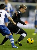 BARCELONA - NOV, 30: Antoine Griezmann of Real Sociedad in action during a Spanish League against RC