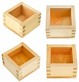 Set Of Traditional Wooden Box For Sake