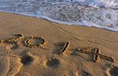 Year 2014 On The Beach