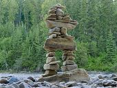 Large Stacked Stones Inuksuk Cairn Trail Marker