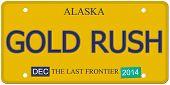 Gold Rush Alaska License Plate