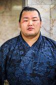 Sumo Wrestler in Fukuoka