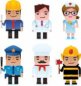 Professional occupation Icons