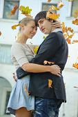 Young Couple And Defoliation poster