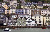 picture of dartmouth  - Houses stacked up the hillside at Dartmouth - JPG