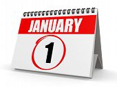 January 1 calendar