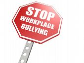 stock photo of bullying  - Stop workplace bullying road sign image with hi - JPG