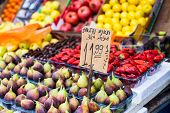 Traditional Fruit Market In Israel