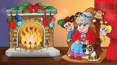 Christmas indoor theme 7 - eps10 vector illustration.