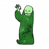 picture of ghoul  - cartoon waving halloween ghoul - JPG