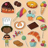 foto of confectioners  - Cute African - JPG