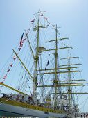 Sailship Mircea in port of Sochi.
