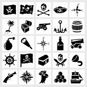 Vector icon set piracy