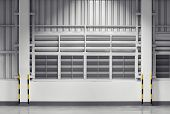 pic of louvers  - Siding sheet and louver use for wall of factory nighttime - JPG