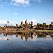 Angkor Wat Cambodia. Angkor Thom khmer temple. Travel landmark