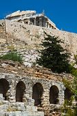 picture of akropolis  - a view of the Acropolis of Athens Greece - JPG