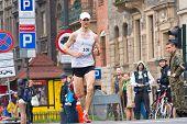 Krakow, Poland - April 28 : Cracovia Marathon. Andrzej Lachowski On The City Streets On April 28, 20