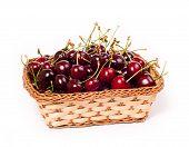Sweet Cherries In Basket