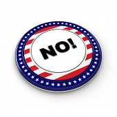 USA presidential election button with the expression