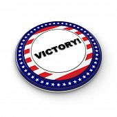 3D Victory button - generic button for political elections