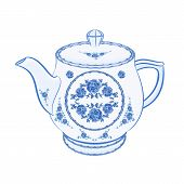 Teapot Faience  Vector Without Gradients