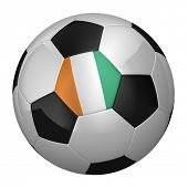 Ivory Coast Soccer Ball isolated over white background