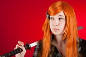 Redhead With Sword