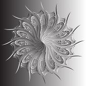 Symmetrical black and white design