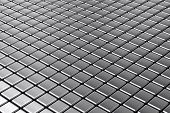 Symmetrical abstract background out of metal squares