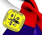 image of memphis tennessee  - 3D Flag of Memphis - JPG
