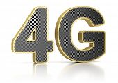 4G symbol standing for the latest standard of wireless communication