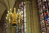 Interior of church Nieuwe Kerk in city Delft