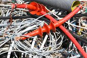 pic of landfills  - incredible tangle of electrical cables of copper in a landfill - JPG