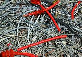 Skein Of Copper Wires In A Controlled Landfill