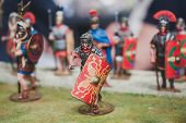 Toy Legionary On Display At Militalia In Milan, Italy