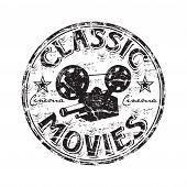 Постер, плакат: Classic movies grunge rubber stamp