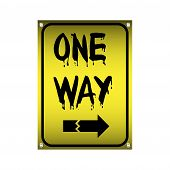 One way plate