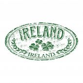 Ireland grunge rubber stamp