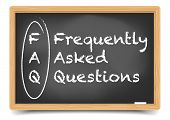 detailed illustration of a FAQ term explanation on a blackboard, eps10 vector, gradient mesh include