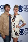 LOS ANGELES - MAY 19:  Eric Christian Olsen, Sarah Wright at the CBS Summer Soiree at London Hotel o
