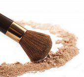 Isolated Make-up Powder