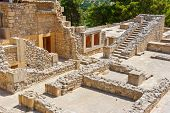 picture of minos  - Ruins of the Minoan Palace of Knossos - JPG