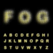 vector dotted alphabet