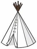 stock photo of wigwams  - wigwam design vector illustration on white background - JPG