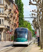 Tram In Strasbourg, France