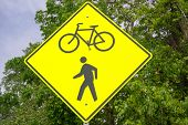Biking and Walkers Sign