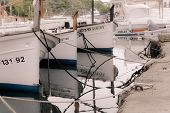 Boats moored in Cala Figuera